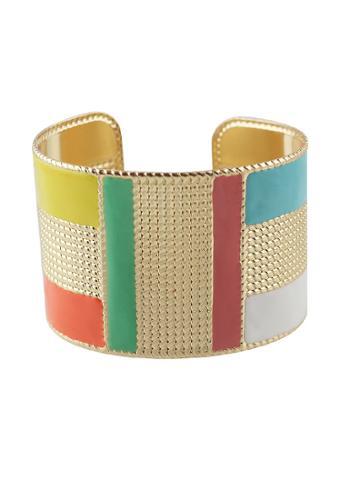 Romwe P-green Steampunk Cuff Bracelets Bangles