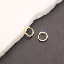 Romwe Mini Gold Hoop Earrings