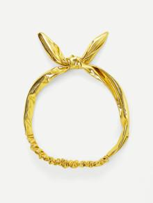 Romwe Metallic Knot Headband