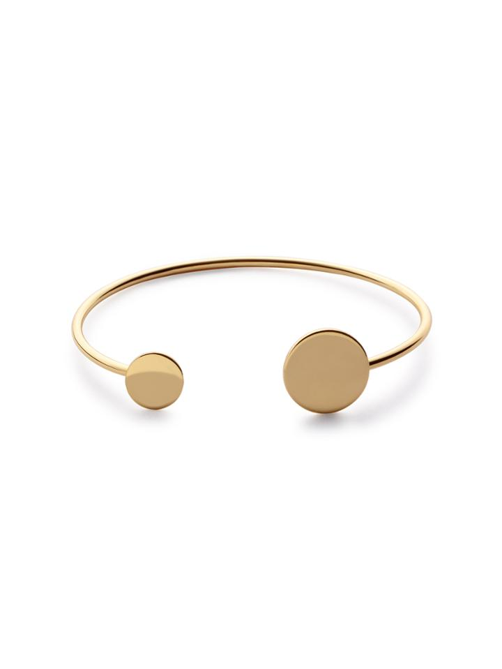 Romwe Gold Plated Coin Wrap Bangle