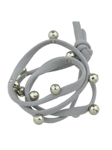 Romwe Gray Color Elastic String Hair Bands Accessories