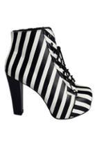 Romwe Striped Shoelace Fashion Boots