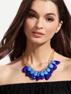 Romwe Two-layer Gemstone Statement Necklace