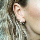 Romwe Moon & Star Detail Hoop Earrings 7pcs