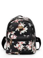 Romwe Vintage Flower Print Backpack