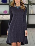 Romwe Long Sleeve Shift Tshirt Dress