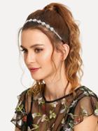 Romwe Faux Pearl Decorated Headband