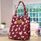 Romwe Flower Print Insulated Lunch Storage Bag