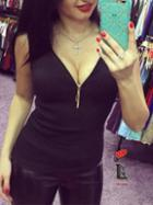 Romwe Black Zip Neckline Tank Top
