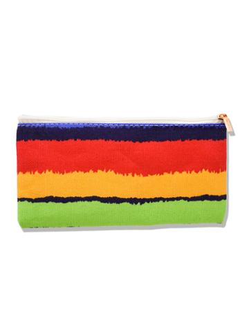 Romwe Color Block Canvas Makeup Bag