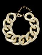 Romwe Gold Chain Bracelet
