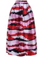 Romwe Striped Long Skirt