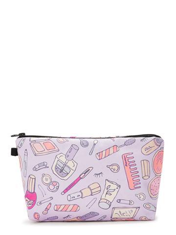 Romwe Cosmetic Tool Print Makeup Bag