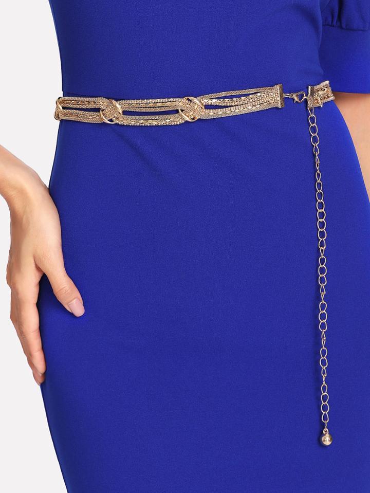 Romwe Woven Chain Belt