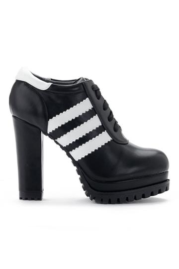 Romwe Striped Shoe Lace Shoes