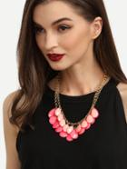 Romwe Sweet Two-layered Gemstone Chain Necklace