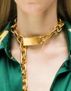 Romwe Unique Punk Style Gold Plated Choker Chunky Chain Necklace