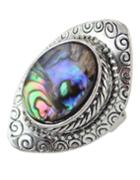 Romwe Silver Plated Colorful Stone Ring