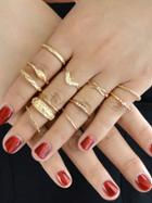Romwe 12pcs/set Knuckle Ring Set