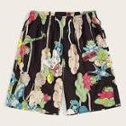 Romwe Guys Floral Print Drawstring Bermuda Shorts