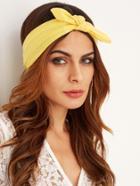 Romwe Yellow Bow Tie Headband