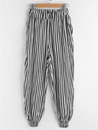 Romwe Striped Harem Pants