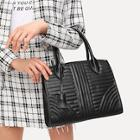 Romwe Quilted Detail Pu Shoulder Bag