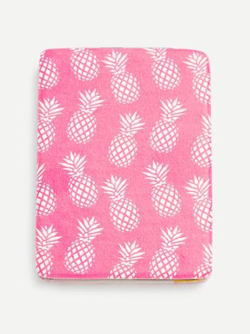Romwe Pineapple Print Portable Folding Mini Makeup Mirror