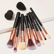 Romwe Soft Makeup Brushes & Makeup Sponge 10pack