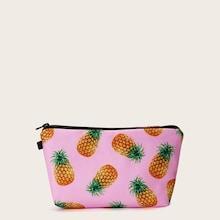 Romwe Pineapple Pattern Makeup Bag