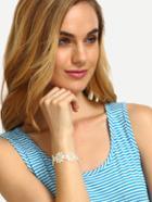 Romwe Vintage Flower Lace Bracelet