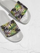 Romwe Tropical Print Flat Sliders