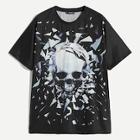 Romwe Guys Skull Print T-shirt