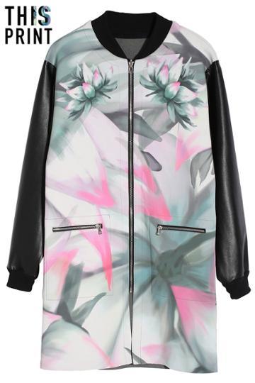 Romwe Romwe Lotus & Love Reversible Coat