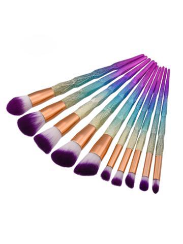 Romwe Professional Ombre Makeup Brush 10pcs