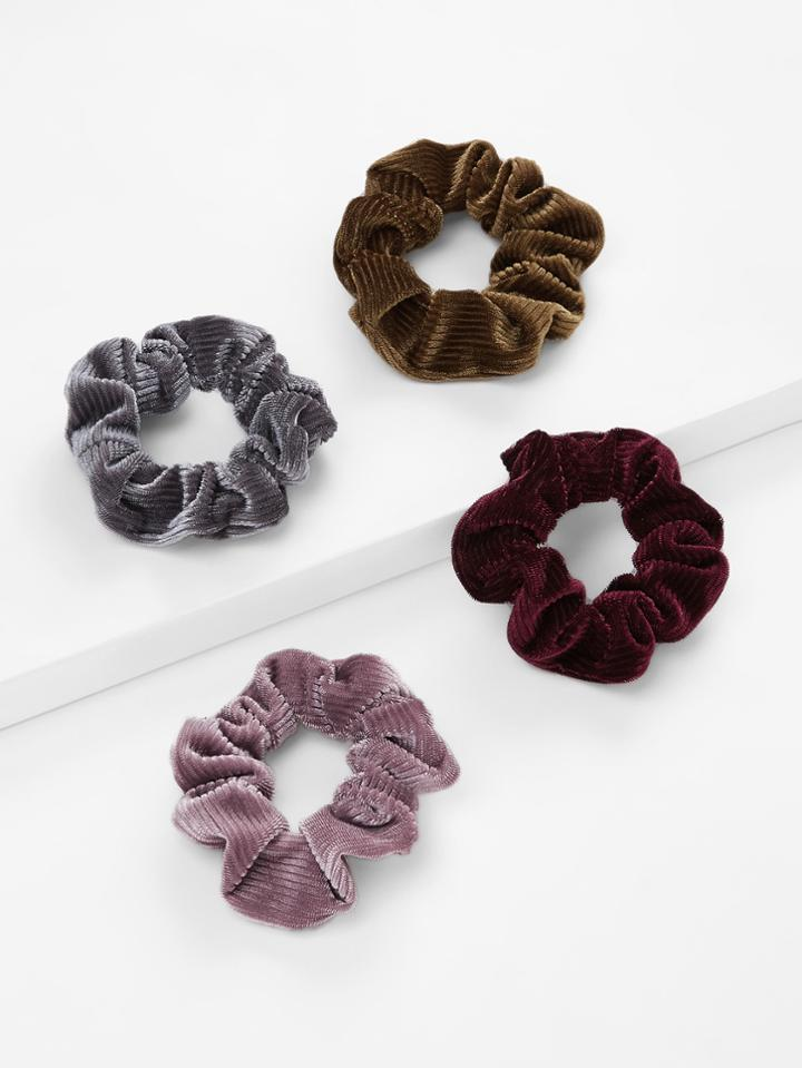 Romwe Hair Scrunchie 4pcs