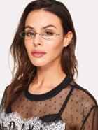 Romwe Metal Frame Flat Lens Glasses