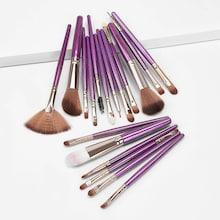 Romwe Two Tone Handle Makeup Brush 18pack