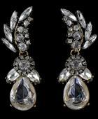 Romwe Gold Drop Diamond Earrings