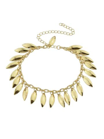 Romwe Gold Color Fashion Pendant Bracelet