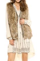 Romwe Faux Fur Vest