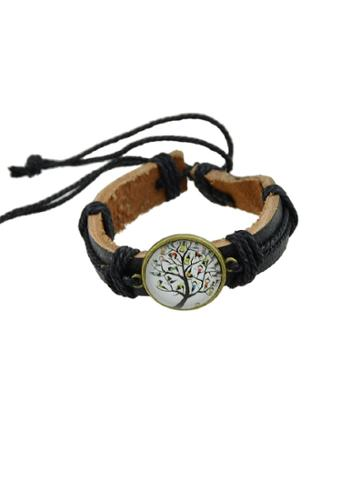 Romwe Child Hiphop Jewelry Rock Style Pu Leather Bracelets