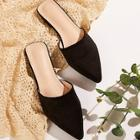 Romwe Suede Point Toe Mules