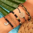 Romwe Shell & Bead Decor Bracelet 5pcs
