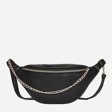 Romwe Chain Decor Bum Bag