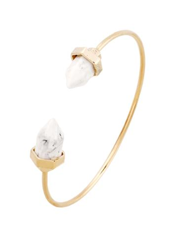 Romwe Open Quartz Cuff Bangle