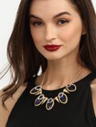 Romwe Fashionable Gemstone Statement Necklace