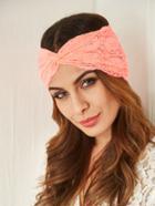 Romwe Pink Lace Twist Headband