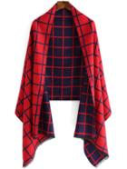 Romwe Plaid Color-block Scarf