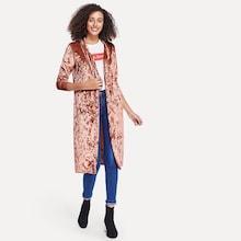Romwe Solid Velvet Outerwear